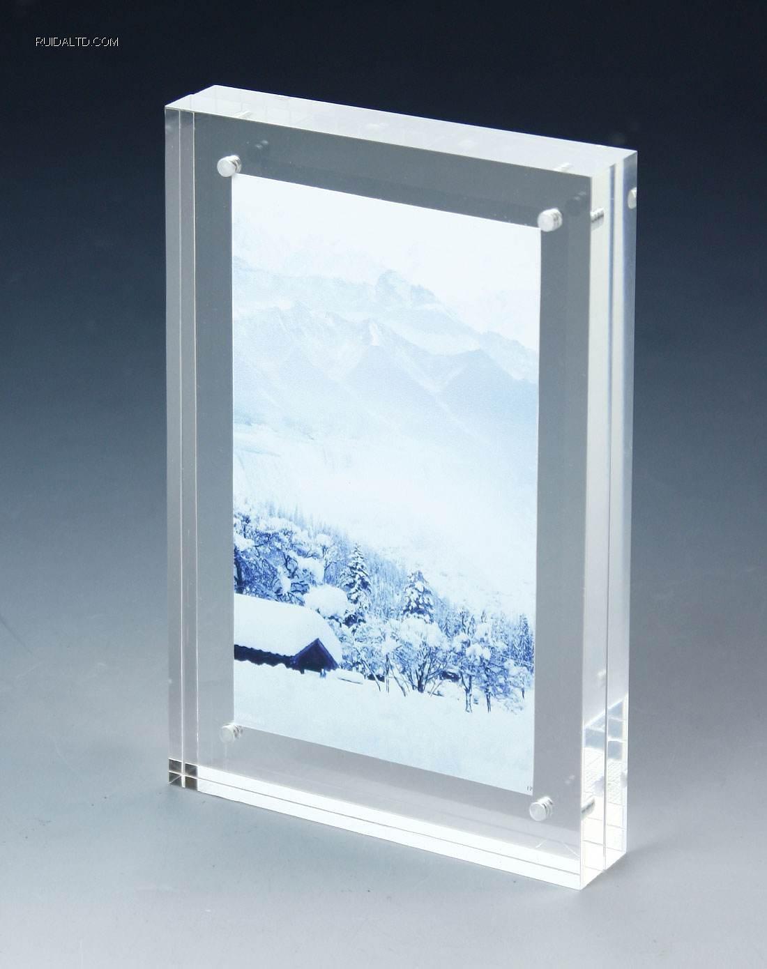 5*7 inch custom magnetic acrylic photo frames
